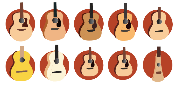 Acoustic guitar body styles and sizes [9 most common]