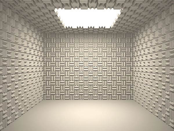 Heavily acoustically treated room