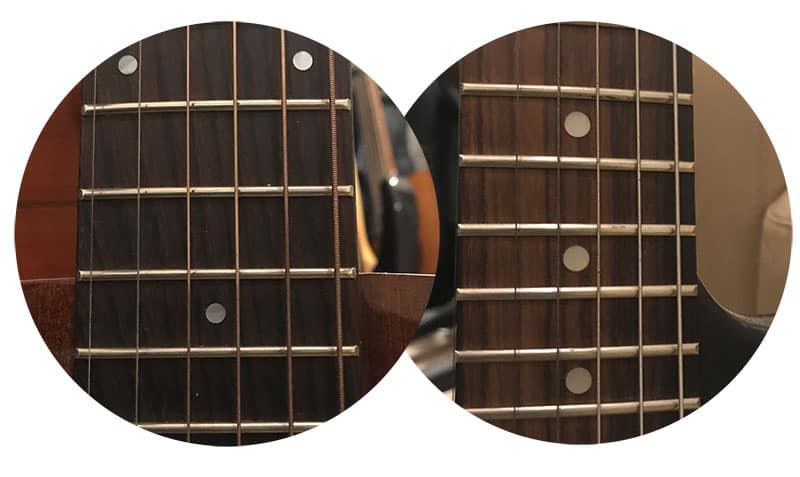Electric and Acoustic Guitar String Windings Comparison