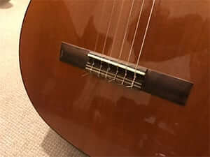 Nylon Strings Fixed to Bridge