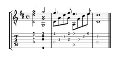 Guitar Tab with Standard Notation