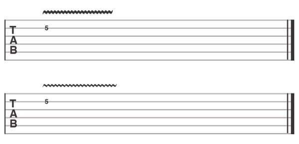 Vibrato - Guitar Tab Symbol
