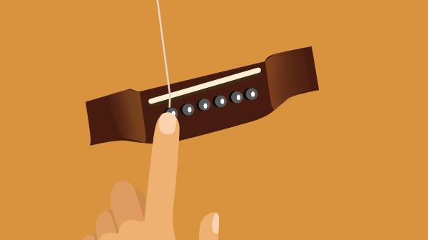 Applying Downward Pressure to Bridge Pin